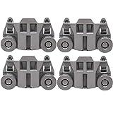 Odowalker Pack of 4 Dishwasher Premium Wheels Lower Rack for Kenmore Elite Dishwasher Parts W10195417 Kitchen Aid Dishwasher
