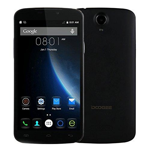 DOOGEE X6, 5.5 inch RAM1GB+ROM8GB Android 5.1 Cellphone MT6580 Quad Core 1.3GHz Dual SIM HD screen Support GPS, OTA, FM, WCDMA & GSM (Black)