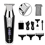 RENPHO Clippers for Men Professional Cordless Hair Clippers Beard Trimmer Hair Cutting Kit, Rechargeable Hair Trimmer for Men and Kids with LED Display for Lining and Artwork
