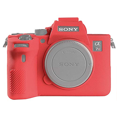 STSEETOP-Sony-A7R-IV-Case-Professional-Silicone-Rubber-Camera-Case-Cover-Detachable-Protective-for-Sony-A7-RIV-Sony-ILCE-7RIV-A7R4-for-Sony-A7RIV-Red