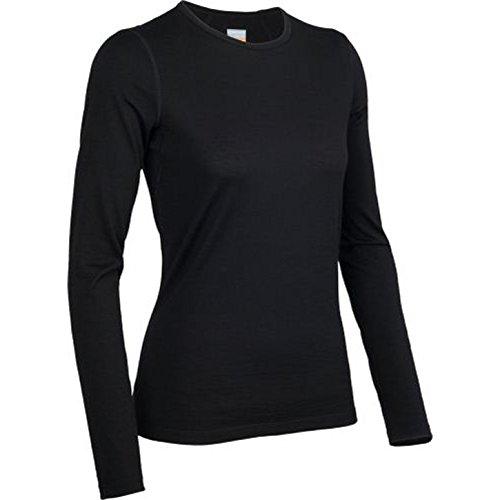 Icebreaker Merino Women's Oasis Long Sleeve Crewe, Black, Small