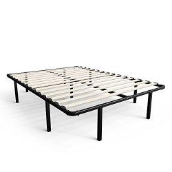 Zinus Cynthia 14 Inch MyEuro SmartBase / Wooden Slat / Mattress Foundation / Platform Bed Frame / Box Spring Replacement…