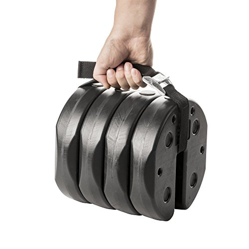 US Weight Deluxe Eco-Canopy Weights with Carry Strap – 40 lb.