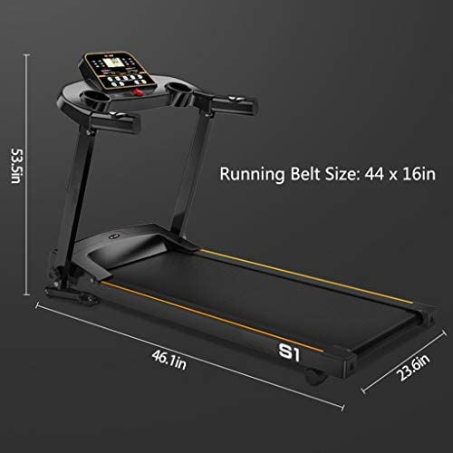 JEI-MEN Folding Treadmill Foldable Electric Running Machine High Power 2.0HP with LCD Display Screen for Indoor Sport 7