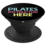 Pilates Instructor Here | Funny Retro Pilates Class Workout PopSockets Grip and Stand for Phones and Tablets