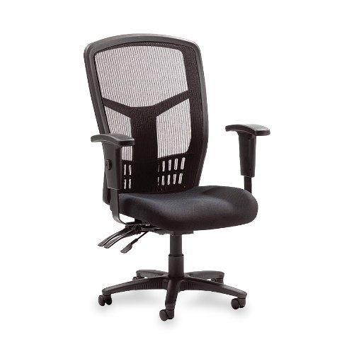 Lorell Executive High-Back Chair, Mesh Fabric, 28-1/2'x28-1/2'x45, BK