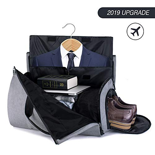 Duffle Bag Garment Bag Carry On Weekend Bag Flight Bag For Travel Sports Gym (Including Shoes and Suits Compartment)