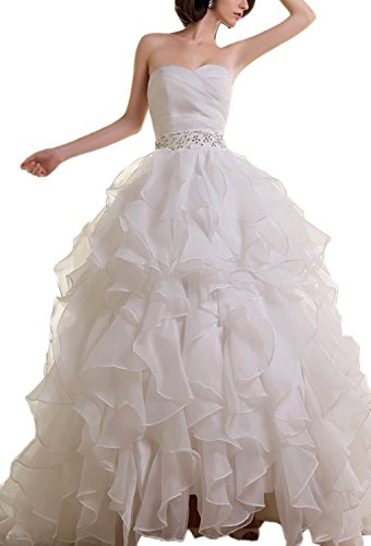 61mZsoVeRTL organza wedding dresses Built-in bra. Dry clean only. Custom-made, Color-change Available