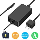 Surface Pro Charger, Surface Book Charger [UL Certified Updated Version] 44W 15V 2.58A Power Supply Compatible Microsoft Surface Pro 6 Pro 5 Pro 4 Pro 3 Surface Laptop 1/2 Surface Go with Travel Case