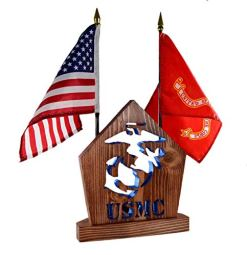 SEMPER FI Military Desk Set Gift