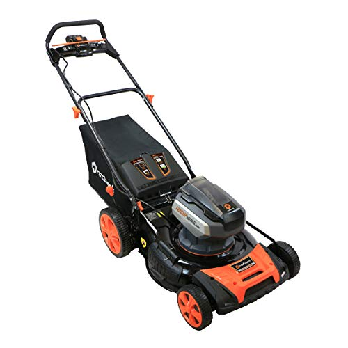 Redback Power | 106648 | 21-Inch 120-Volt Cordless Push Lawn Mower | Brushless Smart Technology Motor | 3.0 AH Battery Included