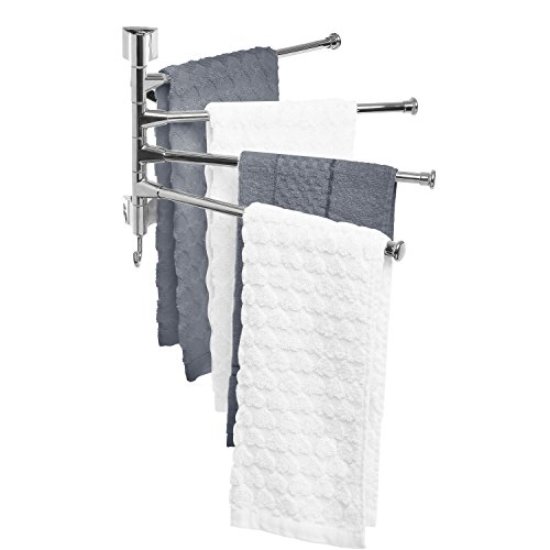 Modern Wall Mounted Stainless Steel Bathroom Adjustable Towel Bar Drying Rack / Kitchen Hand Towel Hanger