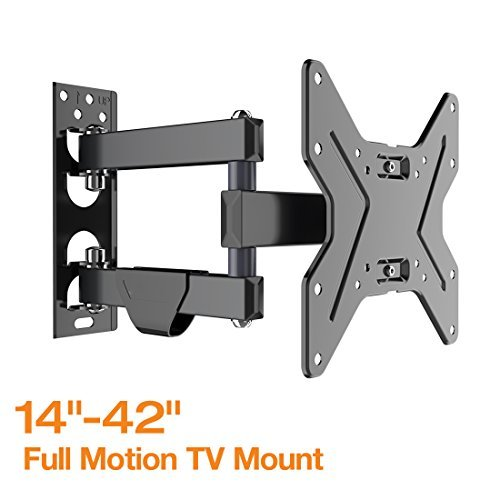 Fleximounts TV Wall Mount Bracket for most 17-42 inch TV Full Motion with Articulating 15.4' Extension Arm Swivel Tilt for LCD LED HD and Plasma