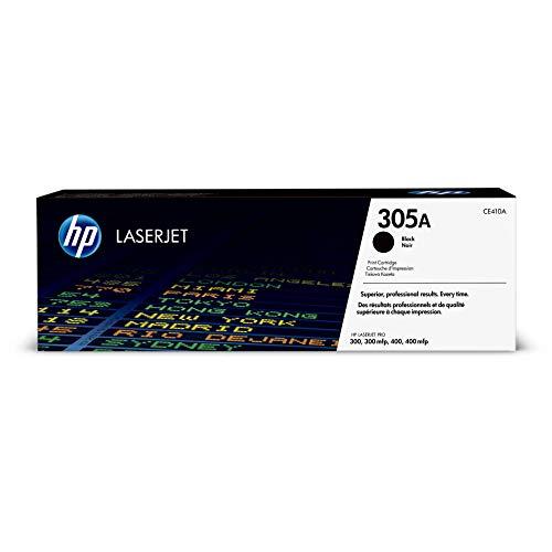 HP 305A (CE410A) Black Original Toner Cartridge for HP LaserJet Pro 400 Color MFP M451nw M451dn M451dw, Pro 300 Color MFP M375nw