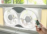 HowPlumb Portable Twin 9' Reversible Window Fan with Remote Control