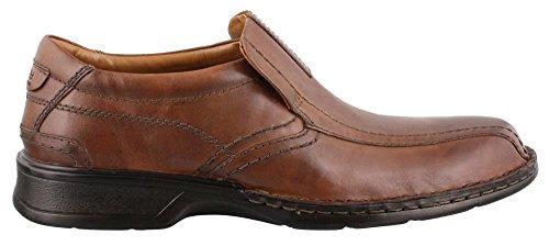 Clarks Men's Escalade Step Slip-on Loafer- Brown 15 D(M) US