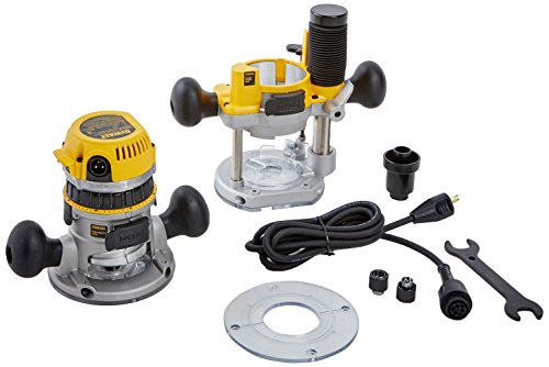 DEWALT DW618PK 12-AMP 2-1/4 HP Plunge and Fixed-Base Variable-Speed Router Kit