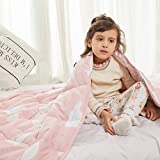 Weighted Idea Weighted Blanket for Kids 5 lbs 36' x 48' for Kids and Teens (100% Natural Cotton, Pink Animal)