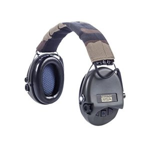 MSA Sordin Supreme Pro X - Premium Edition - Electronic Earmuff with camo-band, green cups and gel seals fitted