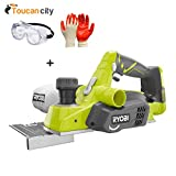 Toucan City Safety Goggles and Nitrile Dip Gloves and Ryobi 18-Volt ONE+ 3-1/4' Cordless Planer (Tool Only) P611