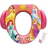 Toddler Girls Soft Potty Seat with hook - Princess Belle, Cinderella, Aurora Wishes & Dreams (pink)