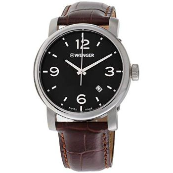 Wenger Urban Metropolitan Quartz Movement Black Dial Men's, Black, Size No Size