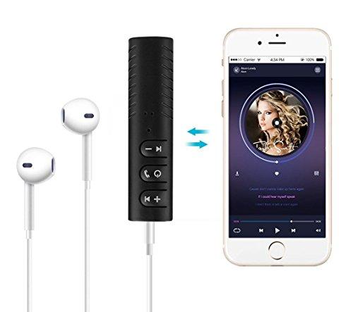Ricevitore Bluetooth, Adattatore Audio Wireless con uscita Aux da 3.5mm, Microfono Incorporato Per Chiamate A Mani Libere, Kit Per Auto BT per Audio Per Casa/Macchina Cuffie Filo Casse