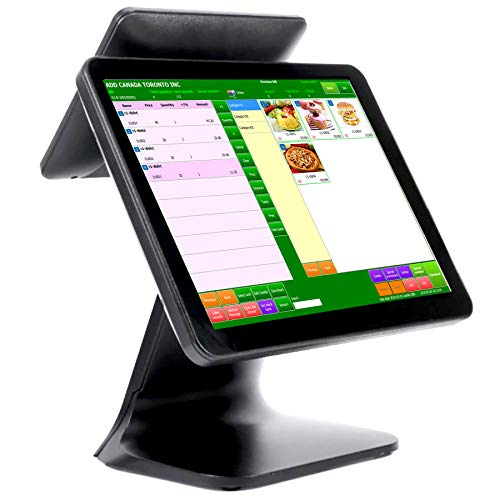 Cash-Register-POS-System-Point-of-Sale-System-POS-Terminal-with-Touch-Screen-15-Customer-Screen-97-CPU-J1900-4GB-RAM-64G-SSD-Windows-Pro10-WiFi-Module-for-Retail-Restaurant-Small-Business