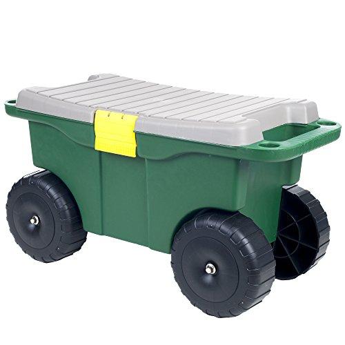 Pure Garden 75-MJ2011 20' Plastic Garden Storage Cart & Scooter