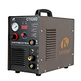 Lotos CT520D Air Plasma Cutter/Tig/Stick Welder 3 in 1 Combo Welding Machine, Argon Regulator Included, ½ Inch Clean Cut, Brown