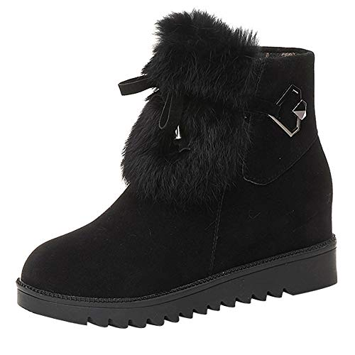 Peize Winter Women Casual Plush Suede Snow Boots Ladies Leisure Solid Zipper Round Toe Shoes