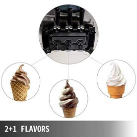 VEVOR-2200W-Commercial-Soft-Ice-Cream-Machine-3-Flavors-53-to-74Gallon-per-Hour-PreCooling-at-Night-Auto-Clean-LCD-Panel-for-Restaurants-Snack-Bar-Silver