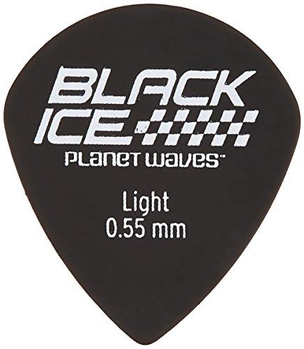 0.55mm Planet Waves Black Ice Guitar Picks Light