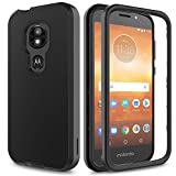 AMENQ Moto E5 Cruise Case, Moto E5 Play Case 3 in 1 Hybrid Heavy Duty Shockproof with Rugged Hard PC and TPU Bumper Protective Armor Phone Cover for Motorola Moto E Play (5th Gen) 2018 (Black)