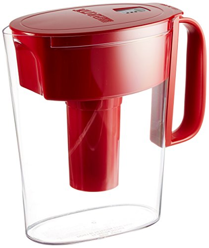 Brita Small 5 Cup Water Filter Pitcher with 1 Standard Filter, BPA Free - Metro, Red