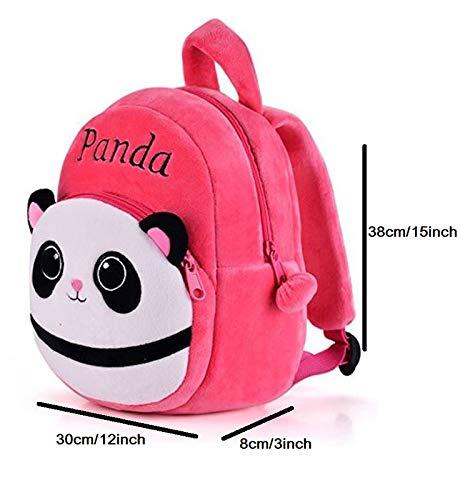 41lTxxLr5SL - Black Hill Cute Kids Backpack Toddler Bag Plush Animal Cartoon Mini Travel Bag for Baby Girl Boy 1-6 Years (Pink-Panda)