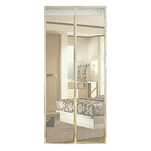 papasgjx Click Mosquito Net Mesh Door Anti Fly Bug Insect Mosquito Screen Net Guard 35'x 82' inches(Beige)