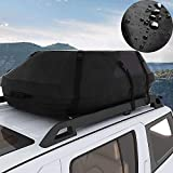 Miageek Waterproof Cross Country Car Roof Top Carrier Water Resistant Non Slip Soft Rooftop Travel Cargo Bag Storage for Any Car Van or SUV/with Straps (20Cubic Feet-Upgrade)