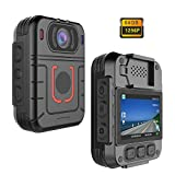 CammPro Mini Body Worn Camera With Warning Lights and Alarm, 64GB Large Memory, Infrared Night Vision, Wide Angle, Waterproof, Motion Detection, Loop Record for Law Enforcement, Security, Personal Use