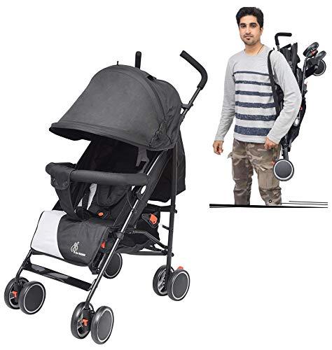 R-for-Rabbit-Twinkle-Twinkle-Stroller-Compact-Travel-Friendly-Pram-for-BabyKidsInfantsNew-BornBoysGirls-of-0-to-3-YearsBlack-Grey