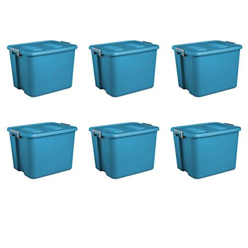 Sterilite 17424306 20 Gallon/76 Liter Latch Tote, Blue Aquarium