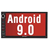 PUMPKIN Android 9.0 Car Stereo Double Din with GPS, WiFi, Android Auto, Support Fastboot, Backup Camera, AUX, USB/SD, 7 inch Touch Screen