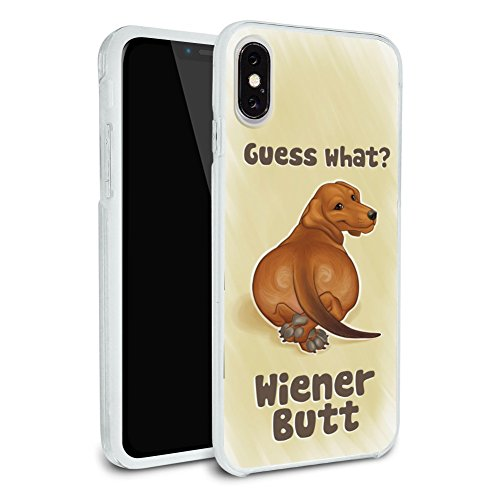 Dachshund Funny Protective Slim Fit Hybrid Rubber Bumper Apple iPhone X case