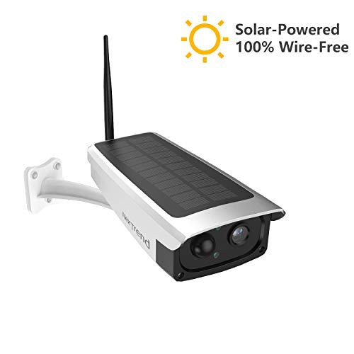 Outdoor Solar Powered Battery Security Camera, NexTrend 1080P Home Wireless IP Cam w/Build-in 6600mAh Battery, PIR Alarm Alerts, Night Vision, Two-Way Audio, Support TF Card& Cloud Service