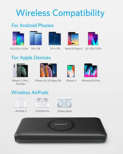 Anker-Wireless-Power-Bank-PowerCore-10000mAh-Portable-Charger-with-USB-C-Input-Only-External-Battery-Pack-Compatible-with-iPhone-11-Samsung-iPad-2020-Pro-AirPods-and-More