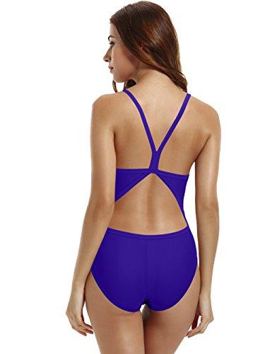5071b497d991a zeraca Women s Athletic Thin Strap Back One Piece Swimsuit. Sale!  25.55 ...