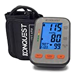 Konquest KBP-2704A Automatic Upper Arm Blood Pressure Monitor - Accurate, FDA Approved - Adjustable Cuff, Large Screen Display, Portable Case - Irregular Heartbeat & Hypertension Detector -Tensiometro