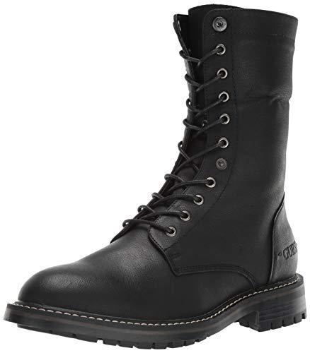 GUESS Men's Rune Combat Boot, Black, 9 M US