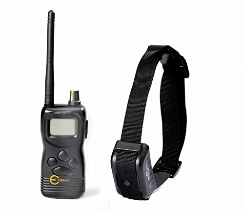 Esky 1000M Dog Training Collar Range Waterproof Rechargeable LCD Remote Shock Control Dog Training Collar System