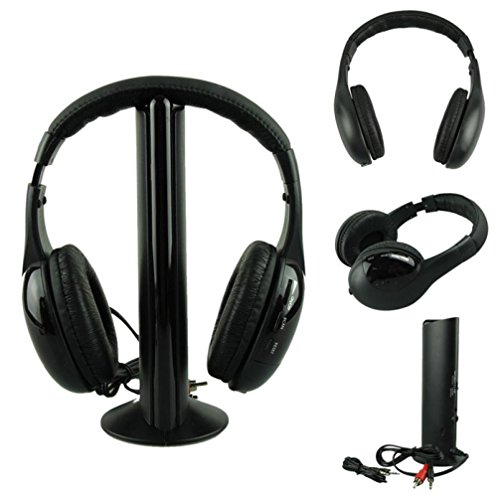 Creazy 5IN1 Wireless Headphone Casque Audio Sans Fil Ecouteur Hi-Fi Radio FM TV MP3 MP4